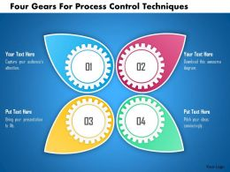 Four Gears For Process Control Techniques Powerpoint Template