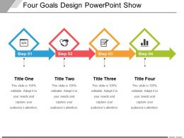 Four Goals Design Powerpoint Show