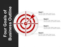 Four Goals Of Business Outline Ppt Background