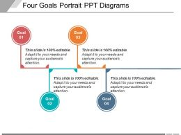 Four Goals Portrait Ppt Diagrams