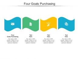 Four Goals Purchasing Ppt Powerpoint Presentation Icon Example Cpb