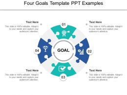Four Goals Template Ppt Examples