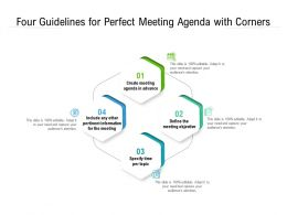Four Guidelines For Perfect Meeting Agenda With Corners