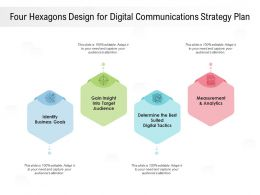 Four Hexagons Design For Digital Communications Strategy Plan