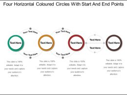 Four Horizontal Coloured Circles With Start And End Points