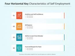 Four Horizontal Key Characteristics Of Self Employment
