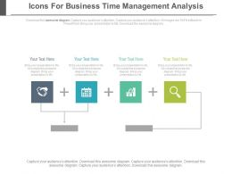 Four Icons For Business Time Management Analysis Powerpoint Slides