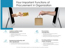 Four Important Functions Of Procurement In Organization