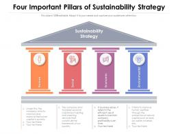 Four Important Pillars Of Sustainability Strategy