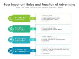 Four Important Roles And Function Of Advertising