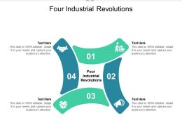 Four Industrial Revolutions Ppt Powerpoint Presentation Gallery Design Ideas Cpb