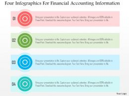 Four Infographics For Financial Accounting Information Flat Powerpoint Design