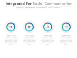 Four Integrated For Social Communication Powerpoint Slides