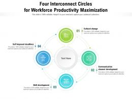 Four Interconnect Circles For Workforce Productivity Maximization