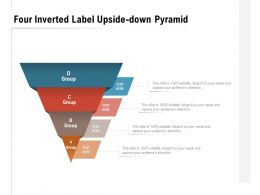 Four Inverted Label Upside Down Pyramid
