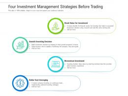 Four Investment Management Strategies Before Trading