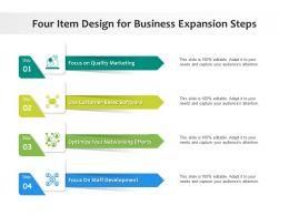 Four Item Design For Business Expansion Steps