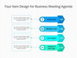 Four Item Design For Business Meeting Agenda
