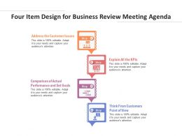 Four Item Design For Business Review Meeting Agenda