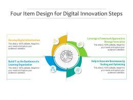 Four Item Design For Digital Innovation Steps