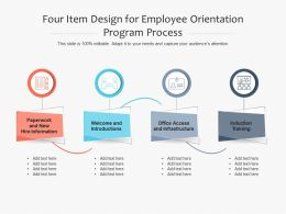 Four Item Design For Employee Orientation Program Process