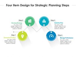 Four Item Design For Strategic Planning Steps