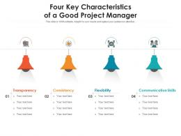Four Key Characteristics Of A Good Project Manager