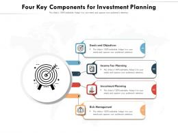 Four Key Components For Investment Planning