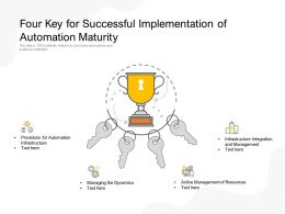 Four Key For Successful Implementation Of Automation Maturity