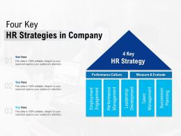 Four Key HR Strategies In Company