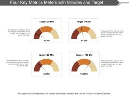 Four Key Metrics Meters With Minutes And Target