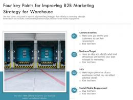 Four Key Points For Improving B2B Marketing Strategy For Warehouse