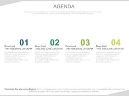 Four Key Steps For Business Agenda Powerpoint Slides