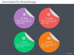 Four Labels For Brand Image Flat Powerpoint Design