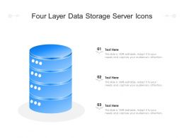 Four Layer Data Storage Server Icons