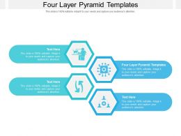 Four Layer Pyramid Templates Ppt Powerpoint Presentation Outline Slides Cpb