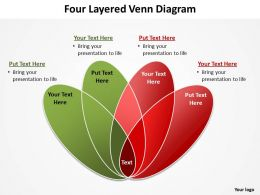 four layered venn diagram rose petals powerpoint diagram templates graphics 712
