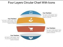 Four Layers Circular Chart With Icons