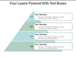 Four Layers Pyramid With Text Boxes