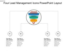 Four Lead Management Icons Powerpoint Layout