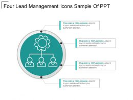 Four Lead Management Icons Sample Of Ppt
