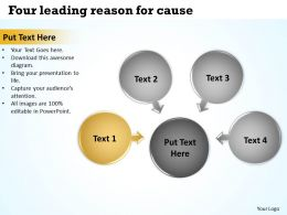 four leading reason for cause Cycle Process Diagram PowerPoint Slides