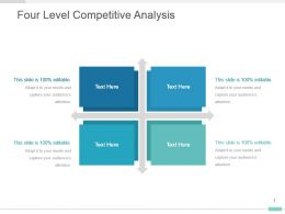 Four Level Competitive Analysis Presentation Graphic Design
