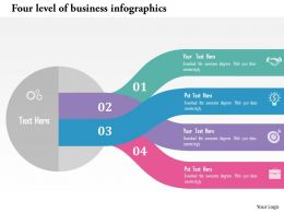 four_level_of_business_infographics_flat_powerpoint_design_Slide01