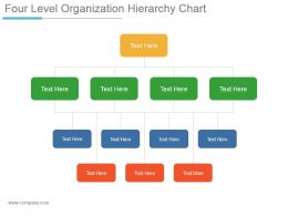 Four Level Organization Hierarchy Chart Powerpoint Slides Design