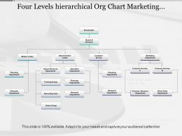 Four Levels Hierarchical Org Chart Marketing Administrative Customer Service