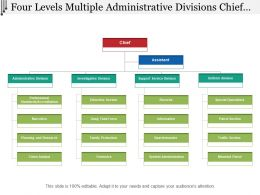 Four Levels Multiple Administrative Divisions Chief Org Chart