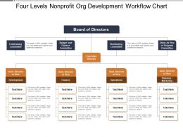 Four Levels Nonprofit Org Development Workflow Chart