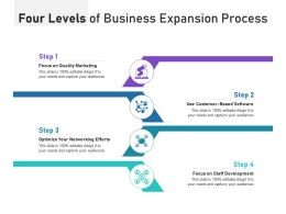 Four Levels Of Business Expansion Process
