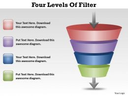 Four Levels Of Filter Ppt Slides Presentation Diagrams Templates